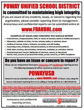 Work Place Fraud Poster